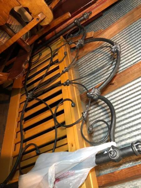 Wrought iron headboard $75.00